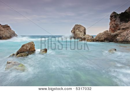 View Of A Cliff And The Sea