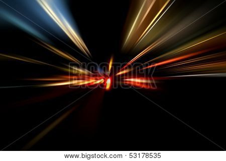 Speed On Night Road