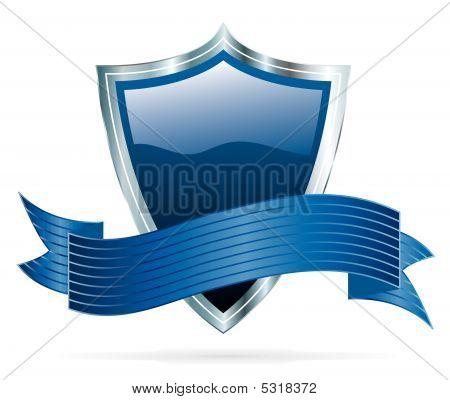 Blue Silver Shield