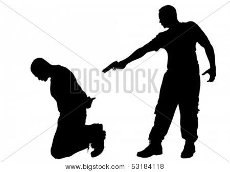 Vector drawing of a criminal arrest