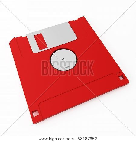 Red Floppy Disk Back Side