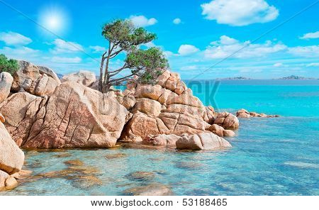 Rocks And Sun