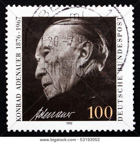 Postage Stamp Germany 1992 Konrad Adenauer, Chancellor