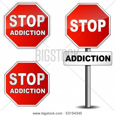 Stop Addiction Sign