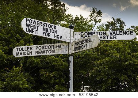 English  Place Names (sign)