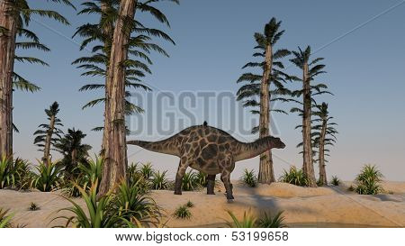 walking dicraeosaurus