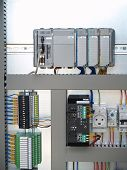 picture of contactor  - A part of cubicle with controller and relays - JPG
