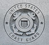 picture of coast guard  - The seal of the United States Coast Guard engraved into granite - JPG