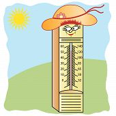 Thermometer Cartoon Character poster