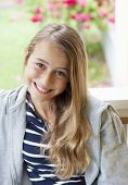 image of laugh out loud  - A confident modern and relaxed teen laughing out loud - JPG
