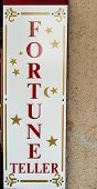 picture of fortune-teller  - Fortune Teller sign on street of San Francisco - JPG