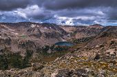 image of mica  - Lake Solitude and Mica as seen from Paintbrush Divide - JPG