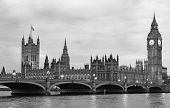 picture of westminster bridge  - Westminster Bridge with Big Ben in London - JPG