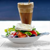 stock photo of frappe  - Traditional greek vegetarian cuisine - JPG