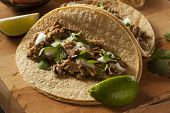 image of tacos  - Traditional Pork Tacos with Onion Cilantro and Lime - JPG