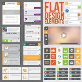Flat web design poster