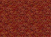 stock photo of brick block  - Vector illustration of seamless brick wall pattern - JPG