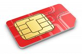 foto of micro-sim  - Creative abstract mobile telecommunication - JPG