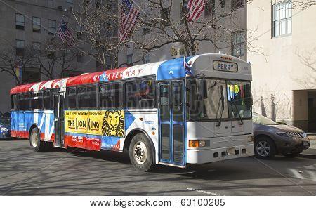 NY Waterway Ferry bus in Manhattan
