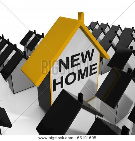 New Home House Means Buying Property Or Real Estate