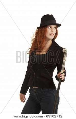 Lady With A Stick