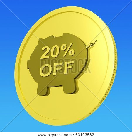 Twenty Percent Off Coin Shows Price Cut 20