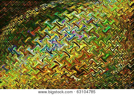 Abstract Art of Beautiful Color Background - Golden Puzzle