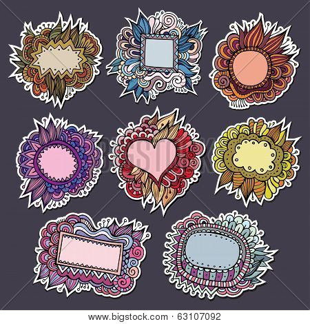 Sale special natures vector labels and stickers
