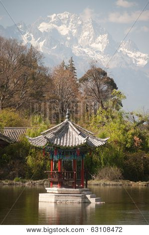 Black Dragon Pool In Lijiang,yunnan In Southwestern Of China.