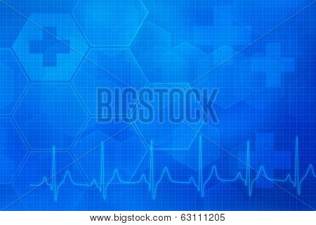 an abstract medical background in blue colors