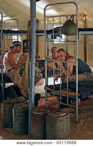 Soldiers In Barracks