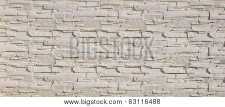 White Cladding Tiles Imitating Stones