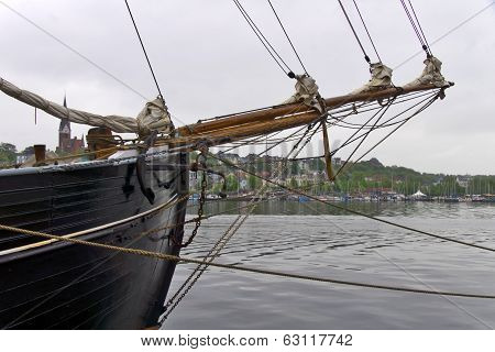 Sailing ship in the harbor