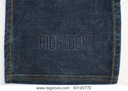 Jeans Denim Texture And Stitches
