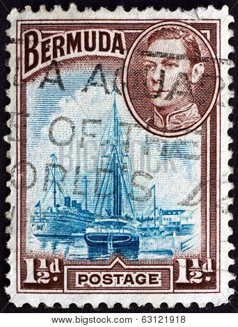 Postage Stamp Bermuda 1943 Hamilton Harbor