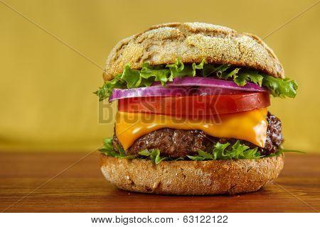 Multigrain bun hamburger