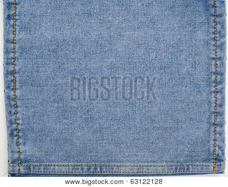 Jeans Denim Background With Stitches