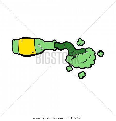cartoon spilled green potion