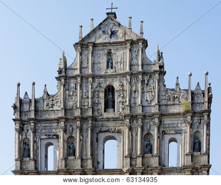 Ruins of St. Paul's - the famous landmark in Macau (Macao)