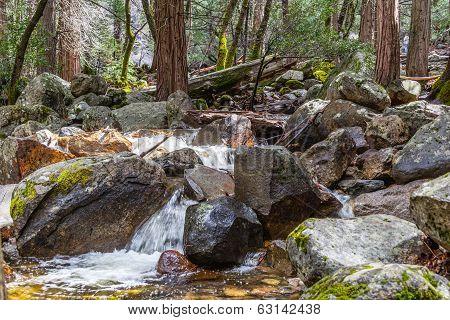 Bridalveil Creek and rocks