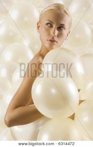 Portrait With Balloons