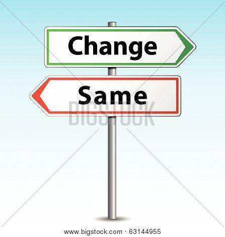 Vector Change Or Same Sign