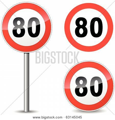 Vector Eighty Sign