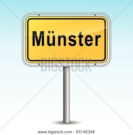 Vector Muenster Signpost