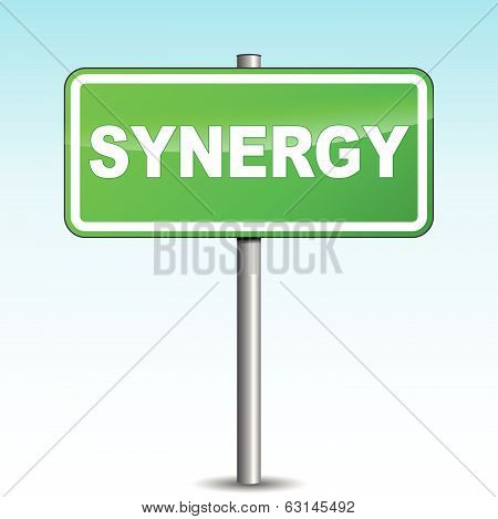 Vector Short Synergy Signpost