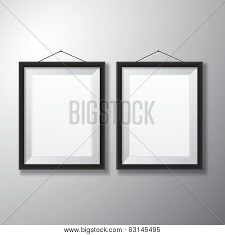 Picture Frames Black Vertical