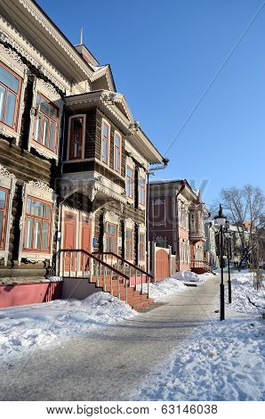 Street With Beautiful Carved Houses