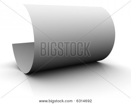 Bent paper sheet