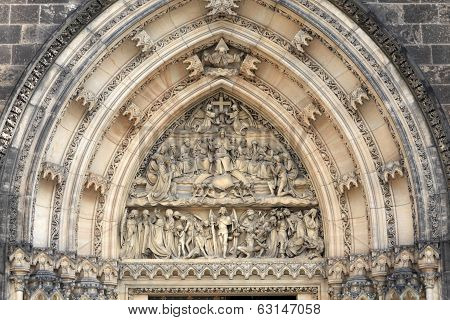 Fragment Of Tympanum Of St Peter And St Paul Basilica