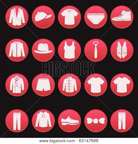 men clothing fashion item set series